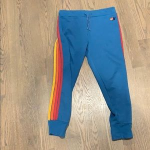 Aviator Nation!  Moto sweatpants with 4 stripes